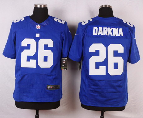 379f1b935 ... Limited Rush Fashion WhitePink Mens New York Giants 26 Orleans Darkwa  Royal Blue Team Color NFL Nike Elite Jersey ...
