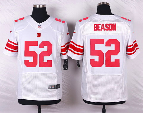 ID103593 Men\'s New York Giants #52 Jon Beason White Road NFL Nike Elite Jersey
