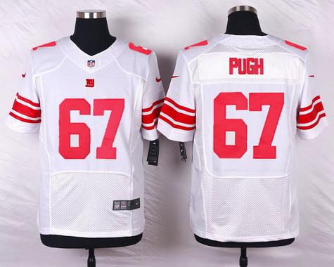 ID103591 Men\'s New York Giants #67 Justin Pugh White Road NFL Nike Elite Jersey