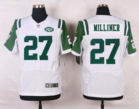 ID103467 Men\'s New York Jets #27 Dee Milliner White Road NFL Nike Elite Jersey