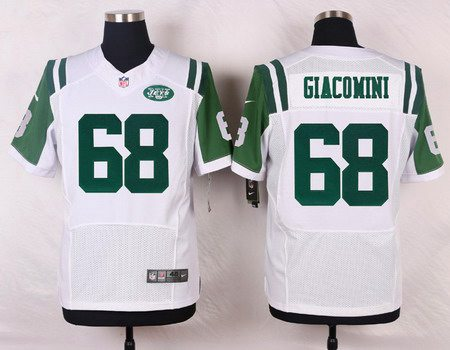ID103456 Men\'s New York Jets #68 Breno Giacomini White Road NFL Nike Elite Jersey