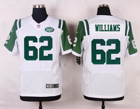 ID103452 Men\'s New York Jets #62 Leonard Williams White Road NFL Nike Elite Jersey
