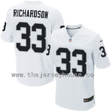 c2a87d031 ... Mens Oakland Raiders 33 Trent Richardson White Road NFL Nike Elite  Jersey ...