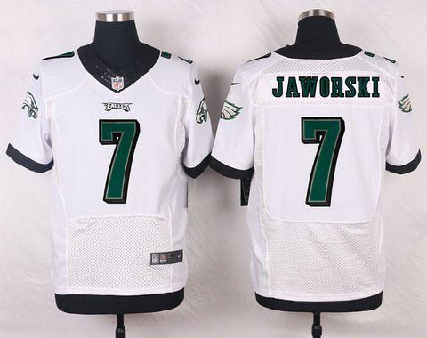 d6e4494d7bb ... Mens Philadelphia Eagles 7 Ron Jaworski White Retired Player NFL Nike  Elite Jersey ...