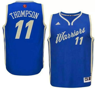... Mens Golden State Warriors 11 Klay Thompson Revolution 30 Swingman 2015  Christmas Day Blue Jersey ... 8cc00efdf