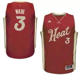 ... Mens Miami Heat 3 Dwyane Wade Revolution 30 Swingman 2015 Christmas Day  Red Jersey ... 8801e3417
