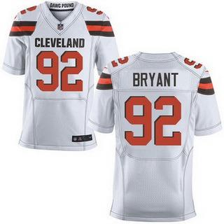 ID102725 Men\'s Cleveland Browns #92 Desmond Bryant White Road 2015 NFL Nike Elite Jersey