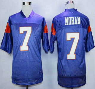 Blue Mountain State #7 Alex Moran Blue 2015 College Football Jersey