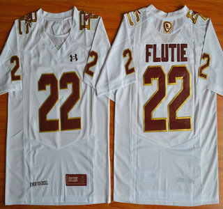 Boston College Eagles #22 Doug Flutie White Fenway Event College Football Under Armour Jersey