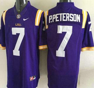 LSU Tigers #7 Patrick Peterson Purple 2015 College Football Nike Limited Jersey