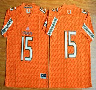 Miami Hurricanes #15 Brad Kaaya Orange 2015 College Football Jersey