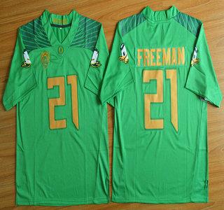 Oregon Duck #21 Royce Freeman Light Green College Football Nike Limited Jersey