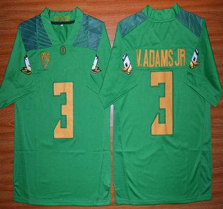 Oregon Duck #3 Vernon Adams Jr Light Green College Football Nike Limited Jersey