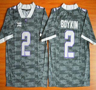TCU Horned Frogs #2 Trevone Boykin Grey 2015 College Football Jersey