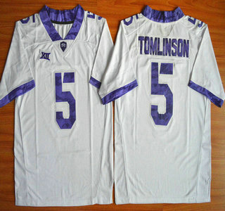 TCU Horned Frogs #5 LaDainian Tomlinson White 2015 College Football Jersey