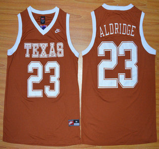 Texas Longhorns #12 LaMarcus Aldridge Burnt Orange College Basketball Jersey