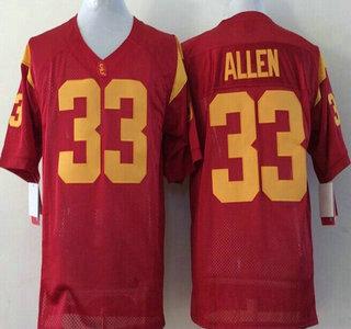USC Trojans #33 Marcus Allen 2015 Red Jersey