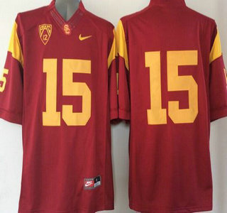 USC Trojans #15 Red 2015 College Football Nike Limited Jersey