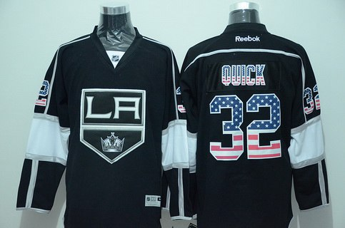 82f969898 Jonathan QuickLos Angeles KingsWhite JerseyNike Los Angeles Kings 32  Jonathan Quick Black USA Flag Hockey Jersey ...