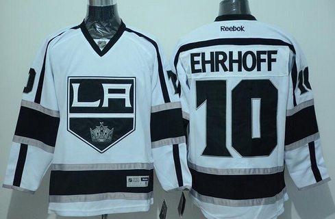 Los Angeles Kings #10 Christian Ehrhoff Reebok White Hockey Jersey