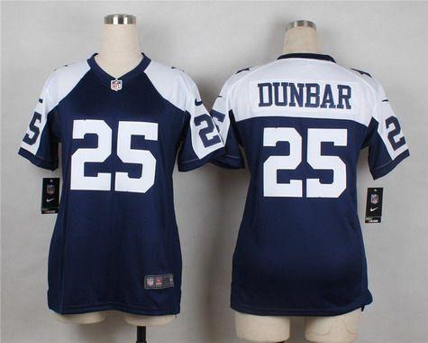 NFL Jerseys Outlet - Women's Dallas Cowboys #25 Lance Dunbar Navy Blue Thanksgiving ...