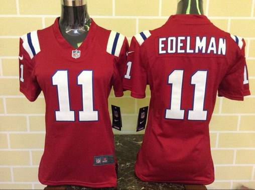 womens new england patriots 11 julian edelman red alternate nfl nike game  jersey fc07efc5f