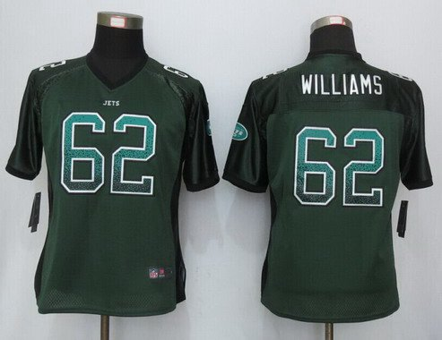 ID102588 Women\'s New York Jets #62 Leonard Williams Green Drift Fashion NFL Nike Jersey