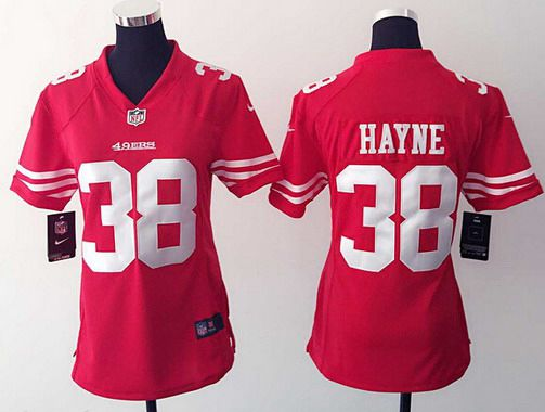 pretty nice 1aa22 35960 womens san francisco 49ers 38 jarryd hayne white road nfl ...