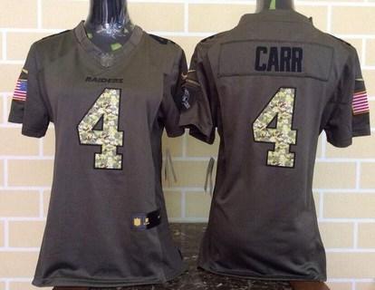 pretty nice 2863e baf83 Women's Oakland Raiders #52 Khalil Mack Green Salute to ...