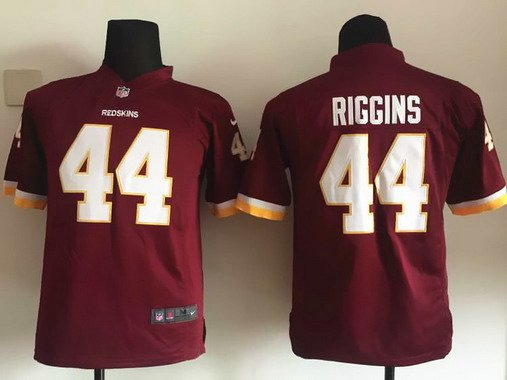 ID102390 Youth Washington Redskins #44 John Riggins Burgundy Red Retired Player NFL Nike Game Jersey