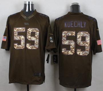 ... Mens Carolina Panthers 59 Luke Kuechly Green Salute To Service 2015 NFL  Nike Limited Jersey . 1ca3b1b28
