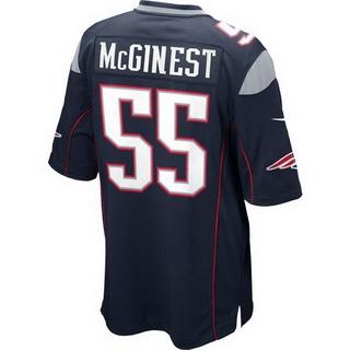 ff1c6dc2 Men's New England Patriots #55 Willie McGinest Navy Blue Retired ...