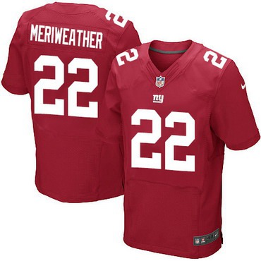 ID102926 Men\'s New York Giants #22 Brandon Meriweather Red Alternate NFL Nike Elite Jersey