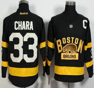 Men's Boston Bruins #33 Zdeno Chara Reebok Black 2016 Winter Classic Premier Jersey