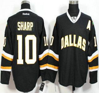 Men's Dallas Stars #10 Patrick Sharp Black Jersey