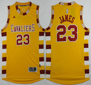 ... Mens Cleveland Cavaliers 23 LeBron James Revolution 30 Swingman 2015-16 Gold  Jersey ... b0905c328