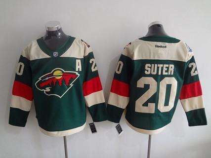 Men's Minnesota Wild #20 Ryan Suter Reebok Green 2016 Stadium Series Team Premier Jersey