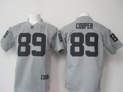 mens oakland raiders 89 amari cooper nike gray gridiron 2015 nfl gray limited jersey