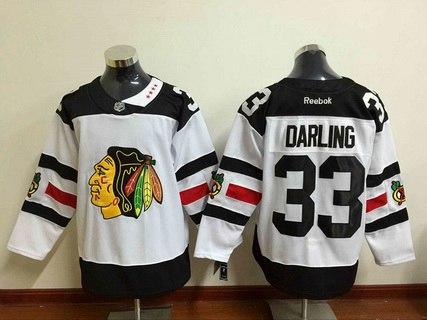 dd7fbaf2a Men's Chicago Blackhawks #33 Scott Darling Reebok White 2016 Stadium Series  Premier Jersey