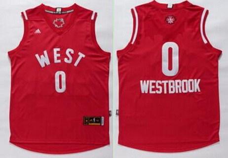 2015-16 NBA Western All-Stars Men's #0 Russell Westbrook Revolution 30 Swingman Red Jersey