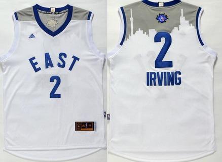 2015-16 NBA Eastern All-Stars Men's #2 Kyrie Irving Revolution 30 Swingman White Jersey
