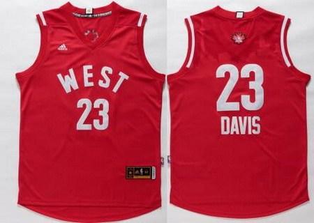 2015-16 NBA Western All-Stars Men's #23 Anthony Davis Revolution 30 Swingman Red Jersey