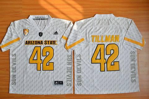 ... Mens Arizona State Sun Devils 42 Pat Tillman White Desert Ice 2015  College Football Jersey ... 524382673