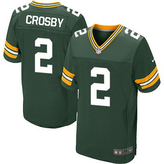 ID102279 Men\'s Green Bay Packers #2 Mason Crosby Green Team Color NFL Nike Elite Jersey