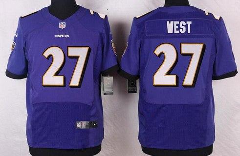 mens baltimore ravens 27 terrance west purple team color nfl nike elite jersey mens baltimore ravens
