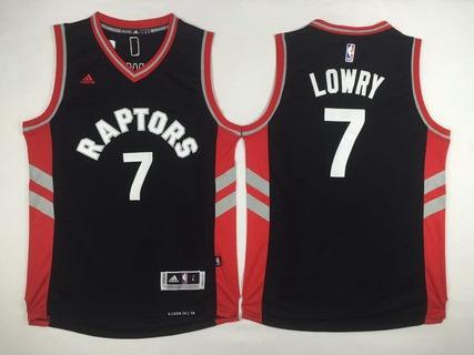 20f557fca Men s Toronto Raptors  7 Kyle Lowry Revolution 30 Swingman 2014 New Black  Jersey