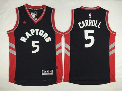 53c4ee416 Men s Toronto Raptors  5 DeMarre Carroll Revolution 30 Swingman 2014 New  Black Jersey