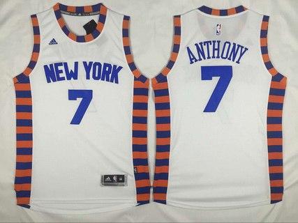 2abfb76bf738 ... Alternate Orange Mens New York Knicks 7 Carmelo Anthony Revolution 30  Swingman 2015-16 White Jersey ...