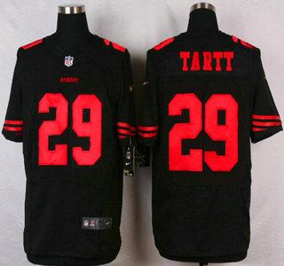 714c284c3 San Francisco 49ers  17 Chuck Jacobs 2015 Nike Black Elite Jersey on ...
