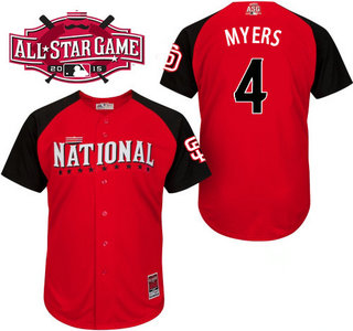National League San Diego Padres #4 Wil Myers Red 2015 All-Star Game Player Jersey